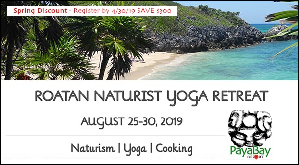 Roatan Naturist Yoga Retreat - August 25-30, 2019